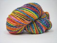 Twirly Bird worsted weight merino wool yarn, hand dyed, 8 oz, 560 yards - A Beautiful Butterfly