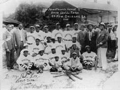 Louis Armstrong's Secret Nine baseball team in 1931. Photo courtesy of Hogan Jazz Archive, Tulane University.  http://www.offbeat.com/2012/08/01/louis-armstrongs-secret-nine-baseball-team-a-secret-revealed/#