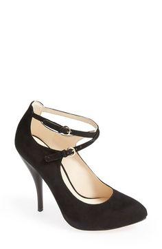 Free shipping and returns on Nine West 'Coherent' Ankle Strap Suede Pump (Women) at Nordstrom.com