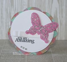 AJ Otto is blinging up this super cute card design using Our Wish for You Stamp Set!
