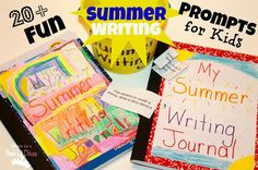 Mom to 2 Posh Lil Divas: 24 FUN Writing Prompts for Kids {Keeping a Summer Writing Journal}