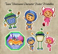 Team Umizoomi Character Posters  Door Sign Birthday Party Printables.