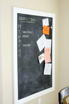 IHeart Organizing: A Framed Magnetic Chalkboard Tutorial