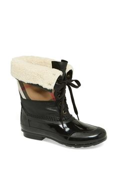 Burberry 'Danning' Waterproof Bootie at Nordstrom.com. March fearlessly into foul weather in a waterproof, shearling-lined bootie finished with signature Burberry checks.