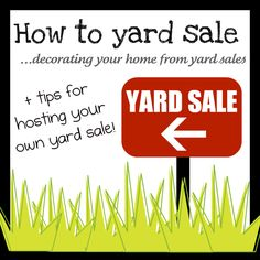 YARD SALE TIPS & SITES