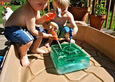 Giant Ice Cube Excavation- Summer Fun