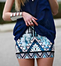 Aztec skirt, bangles and cuff!