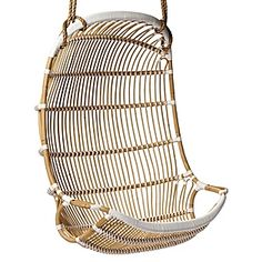 Double Hanging Rattan Chair #serenaandlily  @Mary Young   holds 800 pound.  i would add a pillow