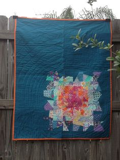 Cool modern quilt- great for using the scrap stash- Fracture Baby Quilt by LittleShopOfHorace on Etsy, $175.00