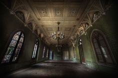This abandoned grand ballroom was one of the best i have seen, real heavy decay creeping in from all over
