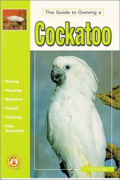 All aspects of caring for cockatoos are covered in this comprehensive book.  The Guide to Owning a Cockatoo contains information about housing, feeding, and training these loving and intelligent birds.  An in-depth section on health care, in addition to a thorough discussion of the species' natural history and behavioral traits, is certain to prove useful to experienced owners as well as those just beginning to know and love these spectacular parrots.