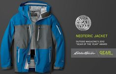 The Neoteric Jacket takes its spot in our Gear Hall of Fame #LiveYourAdventure Learn more about this Award-Winning jacket: http://www.eddiebauer.com/product/neoteric-shell/38832135/_/A-ebSku_0880605345000040__38832135_catalog10002_en__US?showProducts=111&backToCat=&previousPage=SRC&tab=&dcolor=345