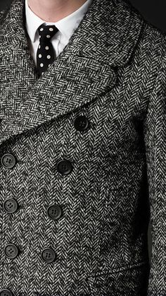 Burberry Sartorial Herringbone Top Coat from the Prorsum AW12 runway collection