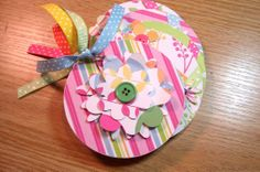 Pink Blue and Green Premade Flower Mini Scrapbook by HampshireRose, $10.00