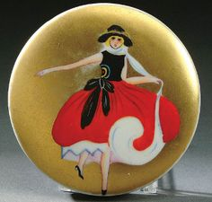 419: A Noritake Art Deco Powder Box Circa 1925