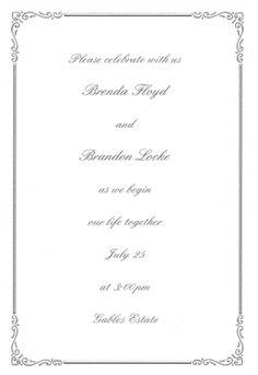 Regal Border Invitation Kit - White Silver