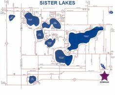 Sister Lakes, MI map