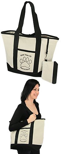 Until They All Have a Home™ Canvas LaptopTote at The Animal Rescue Site