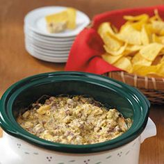 """Hearty Broccoli Dip ~ Submitter says:  """"You'll need just five ingredients to stir up this no-fuss appetizer from Sue Cal. """"People often ask me to bring this creamy dip to potlucks and parties,"""" she remarks from her Beech Grove, Indiana kitchen. """"I never leave with leftovers."""""""