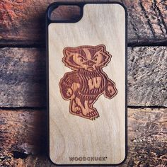 Bucky the Badger iPhone case! #Bucky #Wisconsin  http://www.woodchuckcase.com/collections/customizable