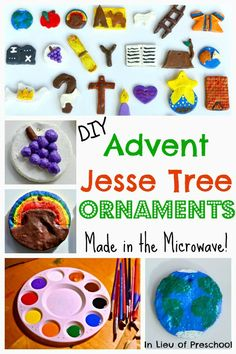 Make your own Advent Jesse Tree ornaments in the microwave! #Christmas