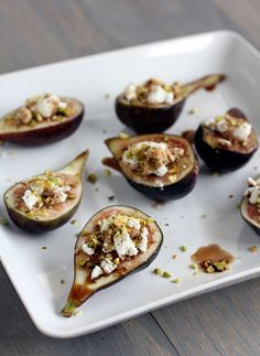 Goat cheese and figs.so  good