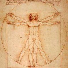 Vitruvian man - may be Leonardo himself