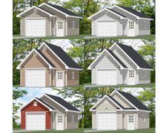 24x24 2 car garages pdf plans 896 sq ft 12 12 for 28x28 garage plans