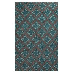 Anchor your patio seating group or define space in the den with this artful indoor/outdoor rug, showcasing a quatrefoil trellis motif for eye-catching appeal...