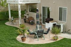 Simple Patio Awning Cover Ideas.... love the shape of this patio