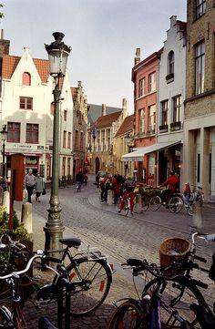 Belgium. Bruges street