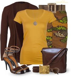 """""""Printed Skirt"""" by tufootballmom ❤ liked on Polyvore"""