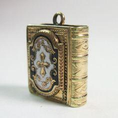 Antique Victorian Book Locket