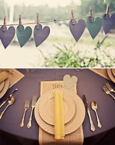 Table Seating Place Cards and PlaceMats