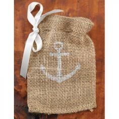 Burlap Favor Bags - Anchor Favor Bags