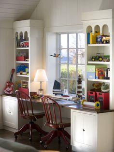 Kids desk area