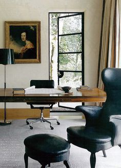 Metal door and Frits Henningsen chair