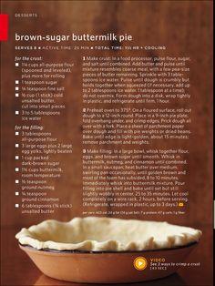 Brown sugar buttermilk pie. Childhood memories of Mrs. Moses.