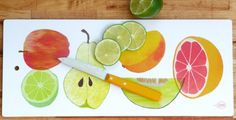 Fruit Chopping Board by claudiagpearson on Etsy, $44.00
