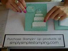 Simply Simple FLASH CARD Wedding Cake by Connie Stewart