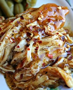 Crock Pot Sweet Garlic Chicken #recipe #dinner
