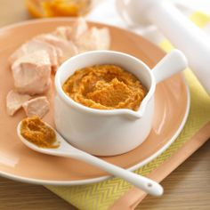 9 Baby Food Purees That Are Anything but Boring: Graduating from breast milk and formula to solids is a major milestone in a baby's first year. If your little one is ready to make the leap, throw away your preconceived notions that baby's first foods have to be monotonous and dull. These nine recipes incorporate unexpected flavors and ingredients to make the early days of eating a whole lot more fun!  Source: Annabel Karmel