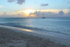 Sunset as we were leaving Palm Beach, Aruba 12/2011