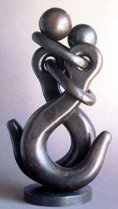 """""""I'm hooked on you"""" - simple, eye catching, and meanigful/visually appealing. So creative!!  Metal Art by Jean Pierre Augier"""