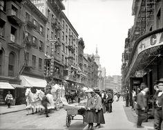 New York City. A funeral procession through Chinatown. 1905 vintag nyc, photograph histori, funer process, citi histori, mott street, chinatown, 1905 mott, new york city, york citi