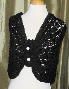 Crochet Black Cowl Scarf Shawl and headscarf by IsabellesAttic, $30.00