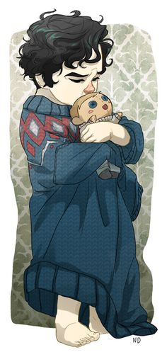 Baby Sherlock with a John doll makes my heart melt...