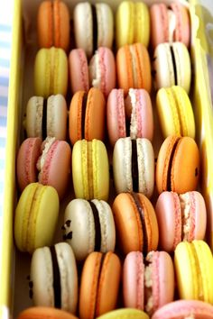 Assorted and Colorful Macarons