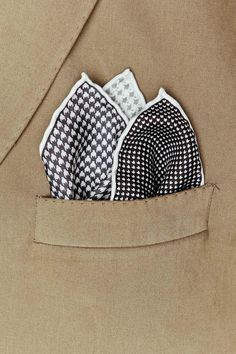 Houndstooth Combo Pocket Square $10