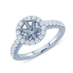 Mount fits 3.6 mm, round,princess cut stones. $693.00 diamond semi